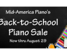 Back to School Piano Sale