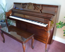 Charles R Walter console piano. STUNNING!