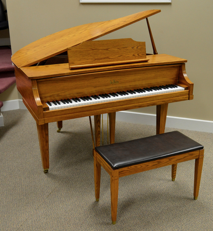 1993 lapetite baby grand piano by kimball for Smallest baby grand piano dimensions
