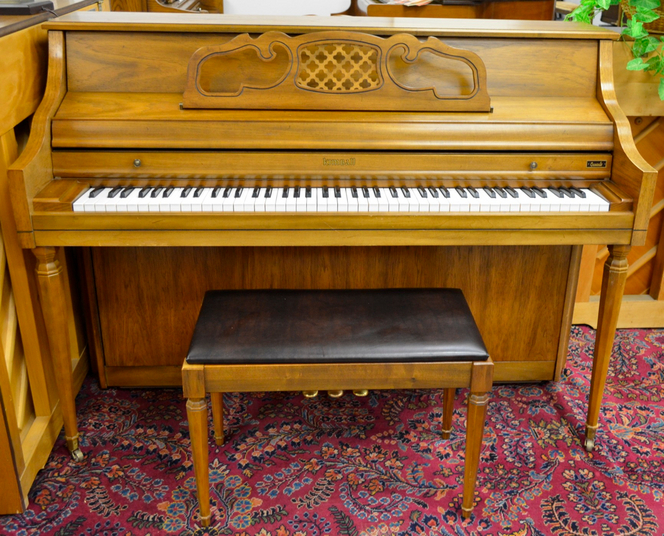 1982 kimball h455 console for What are the dimensions of an upright piano