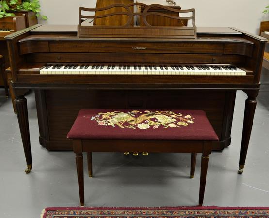 Mahogany baldwin acrosonic spinet for Small upright piano dimensions