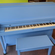 1963 Baby Blue Baldwin Hamilton Studio Piano - Upright - Studio Pianos