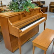 1992 Story & Clark oak console piano - Upright - Console Pianos
