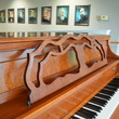1999 Yamaha M500 Parisian cherry console piano - Upright - Console Pianos