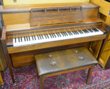 Walnut Console Piano