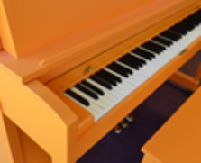 Orange Baldwin Studio Piano
