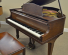 George Steck baby grand, walnut