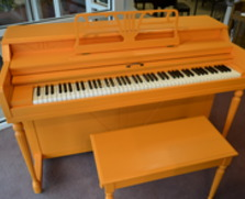 Orange Conover Spinet Piano