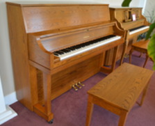 Yamaha P22 studio piano, oak
