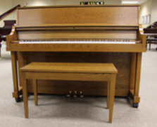 Yamaha P22 studio piano, dark oak