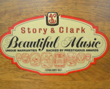 Story and Clark console, pecan