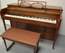 Harwood spinet piano