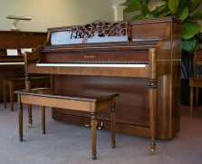Charles R Walter traditional cherry console
