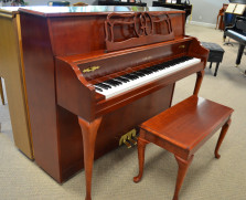 Yamaha Queen Anne console, dark cherry