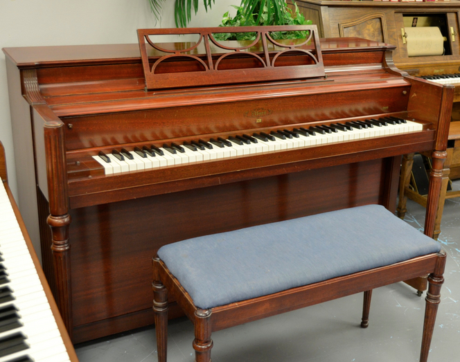 1955 Elburn Mahogany Spinet - Upright - Spinet Pianos