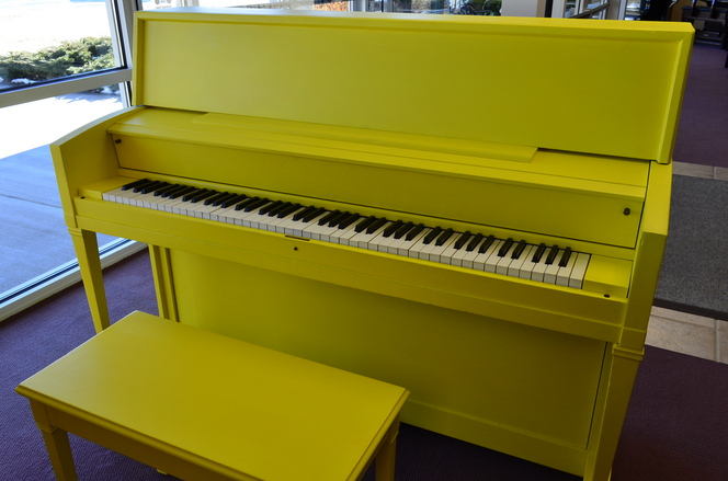1962 Sunshine Yellow Story & Clark Studio Piano - Upright - Studio Pianos